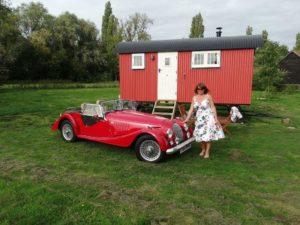Retro weekend. Shepherd hut and Morgan hire